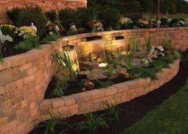 best 25 retaining wall lights ideas on garden