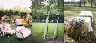 Alternative Seating For An Outdoor Wedding
