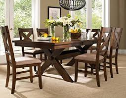 Amazon Roundhill Furniture Karven 7 Piece Solid Wood Dining