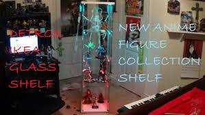 Ikea Detolf Cabinet Light by Detolf Ikea Anime Figure Glass Shelf Youtube