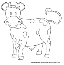 Farm Animal Coloring Pagessimple Pictures