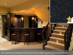 Black Galaxy Granite Countertop Design Concept