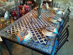 articles with mosaic tile top dining table tag tiled dining table