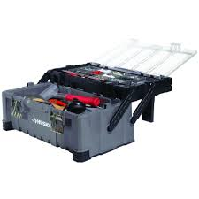 Husky 22 In. Cantilever Plastic Tool Box With Metal Latches-189745 ...