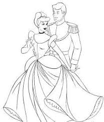 Cinderella And Prince Charming Coloring Online