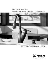 Moen Rothbury Faucet Pricing by 2007 Full Line Catalogue Moen Pdf Catalogues Documentation