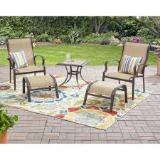 Patio Cushion Sets Walmart by Furniture Mainstay Patio Furniture For Outdoor Togetherness