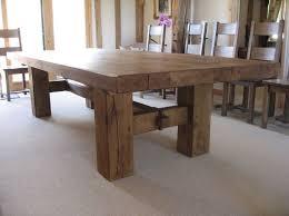 Rustic Oak Dining Table Design Home Furniture Ideas