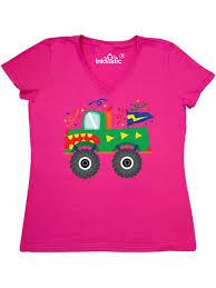100 Monster Truck Shirts Inktastic Birthday Womens VNeck TShirt Walmartcom