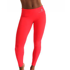 bright coral pink luxury gym fitness leggings supplex fabric