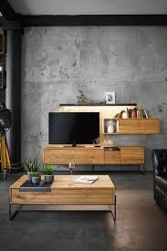 warmes massivholz und kühler beton ein toller kontrast fürs
