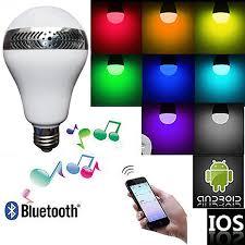 lightake 110v bluetooth led bulb with app and