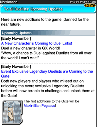 Maximillion Pegasus Deck Duel Links by Duel Links New Characters Kc Cup U0026 More November Events