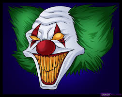 Scary Clown Pumpkin Stencils Free by Killer Clown Faces How To Draw Killer Clowns Places To Visit