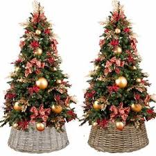 Image Is Loading Large Willow Christmas Tree Skirt Xmas Rattan Wicker