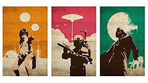 OHMYPOSTER Vintage Pop Art Star Wars Trilogy Set Of 3 Posters