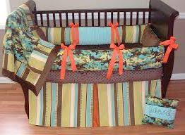 real tree max 4 camouflage camo crib bedding set w baby blue