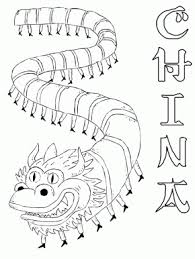 Hungary Paprika Countries Coloring Pages China Dragon