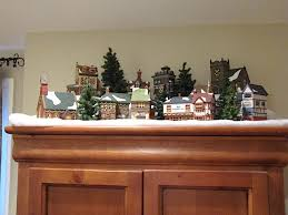 Above Kitchen Cabinet Christmas Decor by Image Result For Christmas Village Displays Above Kitchen Cabinets