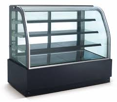 New Curved Glass 36 Refrigerated Cake Display Cooler Cold Bakery Pastry Case