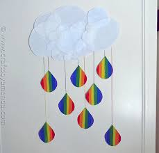 Rainbow Crafts Cloud And Raindrops From CraftsbyAmanda Amandaformaro