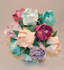 Alternative Wedding Roses Valentines Origami Paper Custom Colour Flowers Anniversary