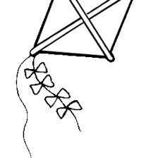 Kite Coloring Pages Printable Cooloring