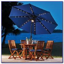 solar lighted patio umbrellas patios home decorating ideas