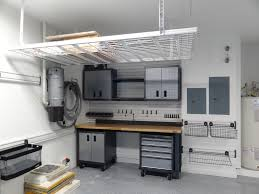 Ceiling Material For Garage by Garage Practical Garage Ceiling Storage Applying White In Grey