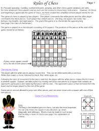 FREE Printable Chess Game