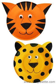 Leopard And Tiger Paper Plate Crafts