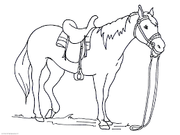 Horse Coloring Pages Printable Free Color Horseshoe Crab Horseland Pepper And Carriage Full Size