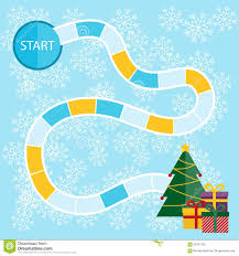 Photo About Template For A Christmas Board Game With Start And Tree Presents In The Finish