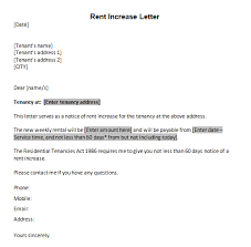 6 Rent Increase Letter Templates