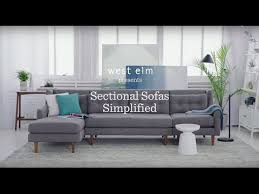 West Elm Crosby Sofa Sectional by Sectional Sofas Simplified West Elm Youtube