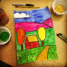 Fall Tempera Landscape · Art Projects For Kids