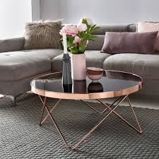 couchtisch glas ø 82 cm metall wohnzimmertisch modern glastisch rund sofatisch wohnzimmer schwarz moderner coffee table mit glasplatte kleiner
