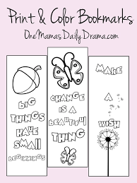 Spring Print And Color Bookmarks