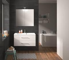 badmöbel set unterschrank 90 cm waschtisch spiegelschrank vormontiert allibert