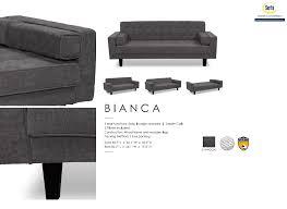 Serta Dream Convertible Sofa by Bianca Serta Dream Convertible Sofa Charcoal Fabric