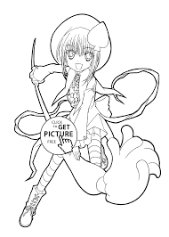 Manga Coloring Pages For Anime
