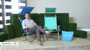 Rio Hi Boy Beach Chair With Canopy by Copa 4 Position Big Tycoon Canopy Beach Chair With Free Beach Bag