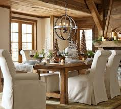 Pottery Barn Crystal Table Lamps by Pottery Barn Dining Room Table White Chairs Pads Wooden Legs
