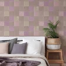 livingwalls vliestapete new walls tapete finca home in fliesen optik lila grau beige