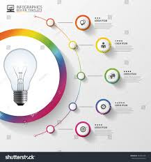 light bulb circle elements infographic vector stock vector
