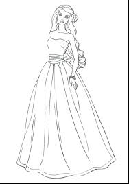 Free Dress Design Coloring Pages Printable Wedding Beautiful Barbie Dresses Up To Print