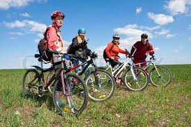 A Group Of Four Adults On Bicycles In The Countryside Everyone Can Ride Bike Who Rides Is My Friend