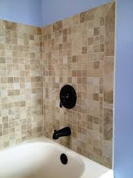 tiled tub surround traditional bathroom cleveland by