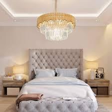 zzz moderner gold led kristall kronleuchter wohnzimmer