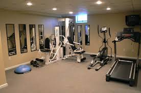 Basement: Fascinating Basement Home Gym Ideas. Unfinished Basement ... Basement Gym Ideas Home Interior Decor Design Unfinished Gyms Mediterrean Medium Best 25 Room Ideas On Pinterest Gym 10 That Will Inspire You To Sweat Window And Big Amazing Modern Center For Basement Gallery Collection In Flooring With Classic How Have A Haven Heartwork Organizing Tips Clever Uk S Also Affordable